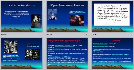 Презентация Ю.А.Гагарин