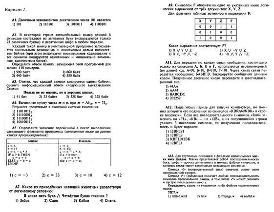 Итоговый тест по информатике класс Итоговая контрольная работа по информатике 10 класс по семакину