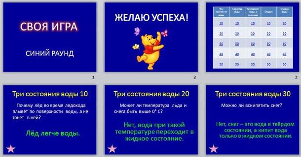 Игра по окружающему миру начальная школа