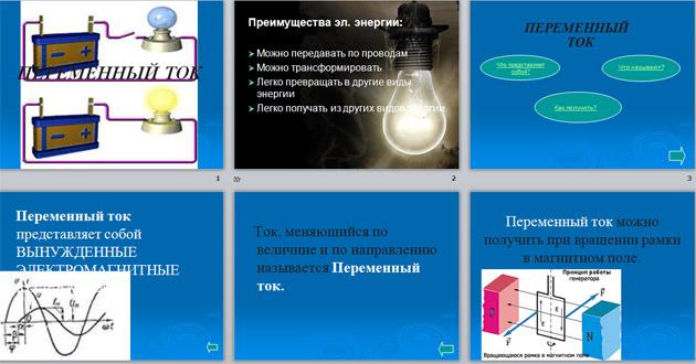 Презентация по физике на тему Переменный ток