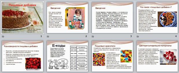 Презентация Пищевые добавки