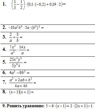 Годовая контрольная работа по математике модуль алгебра  задания по алгебре 7 класс
