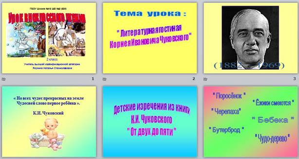 конспект знакомство с творчеством чуковского