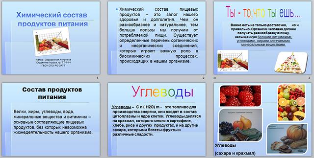 Презентация по химии на тему Химический состав продуктов питания  Презентация по химии на тему Химический состав продуктов питания