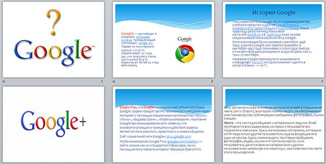 Темы для презентации гугл