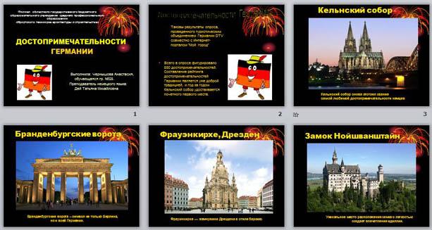 Презентацию по германскому языку на тему