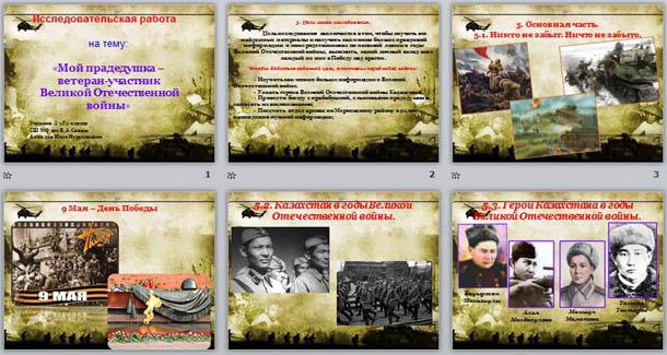 Презентация на тему: Мой прадедушка – ветеран-участник Великой Отечественной войны (исследовательская работа)