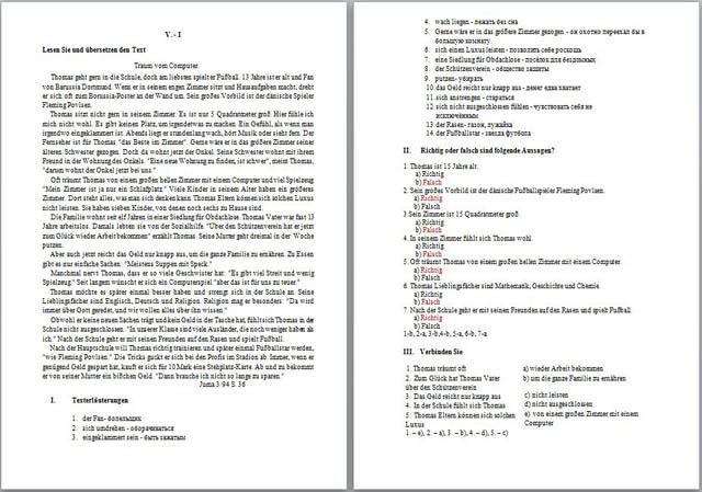 Контрольно измерительные материалы по дисциплине Иностранный язык  Контрольно измерительные материалы по дисциплине Иностранный язык немецкий