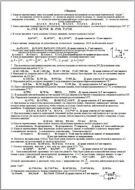 Итоговый тест для 10 класса по русскому языку