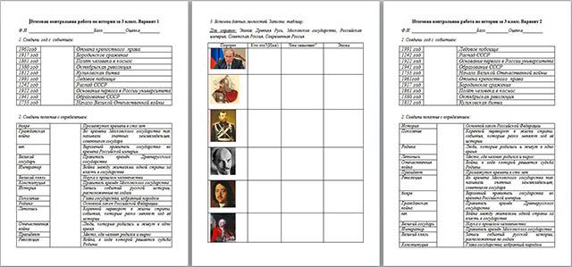 Годовая контрольная работа по истории за класс по УМК Школа  Годовая контрольная работа по истории за 3 класс по УМК Школа 2100