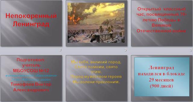 презентация на тему Непокоренный Ленинград