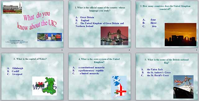 Презентация по английскому языку на тему  Великобритания