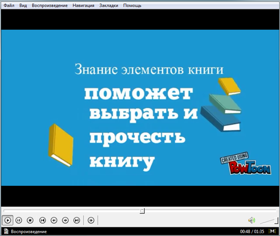 Видеоурок для начальных классов Структура книги
