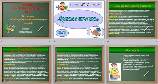 Презентация Анализ контрольной работы по математике на тему  Презентация Анализ контрольной работы по математике на тему Натуральные числа и шкалы