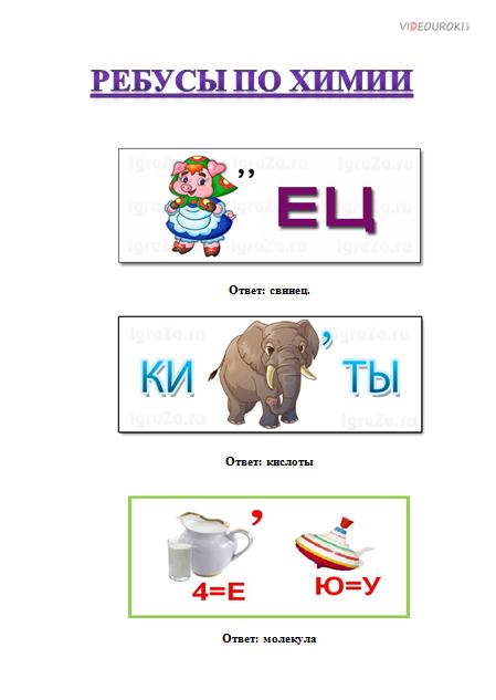 недавно аккаунте ребусы по химии в картинках с ответами стоит купить символический