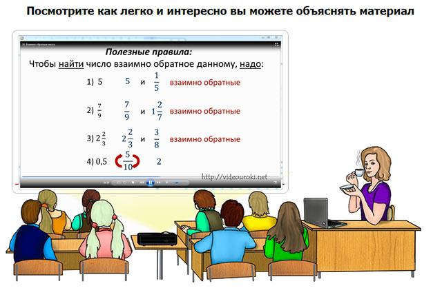бесплатно видеоуроки по математике 6 класс