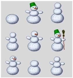 составь снеговика картинка